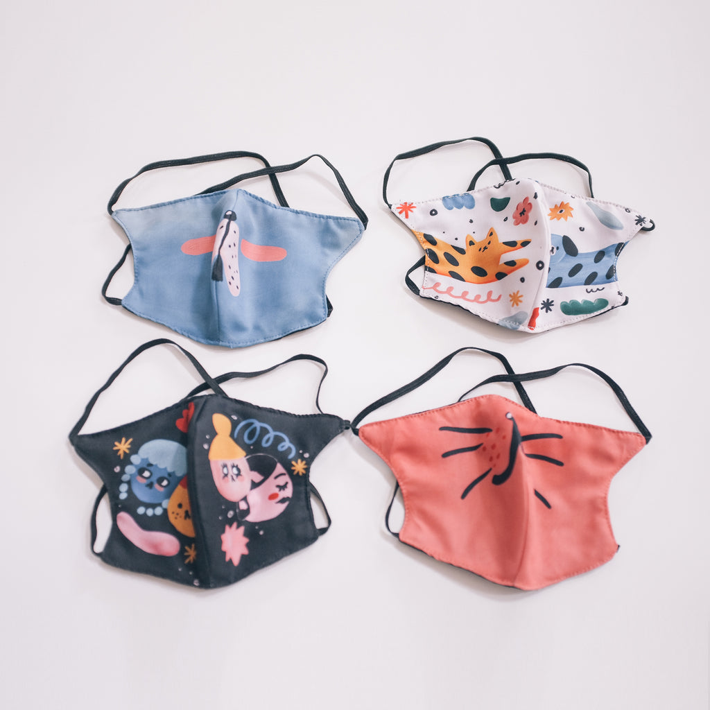 Liunic on Things Cotton Mask Bundle of 4 HEADLOOP (First Collection)