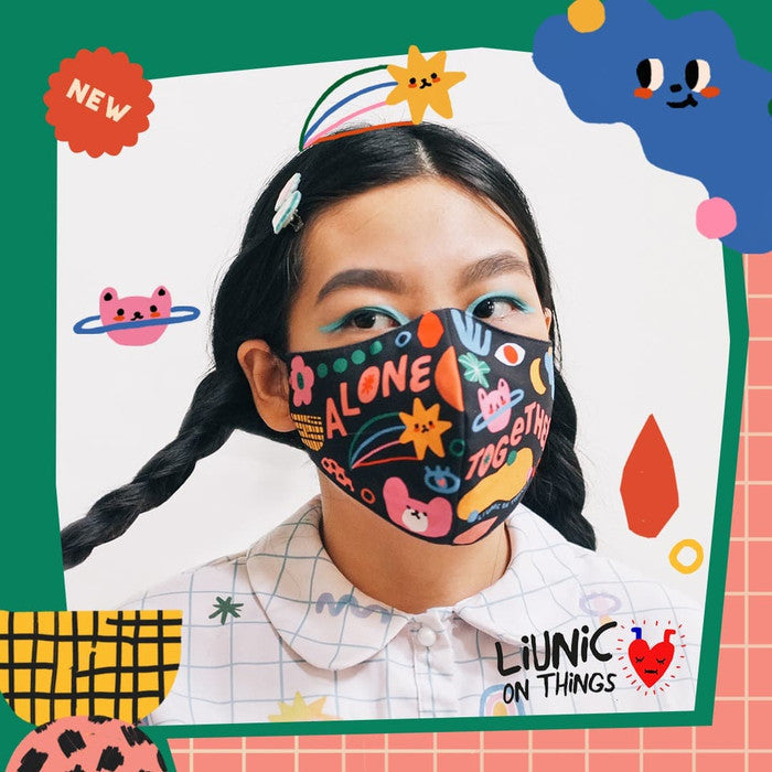 Liunic on Things Cotton Mask Bundle of 3 EARLOOP (Second Collection)
