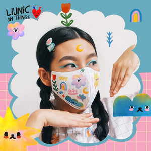 HEADLOOP-HIJAB Liunic on Things Cotton Mask Bundle of 3