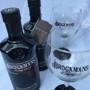 Buy 2 Brockmans Premium Gin with 2 free Brockmans Copa glasses