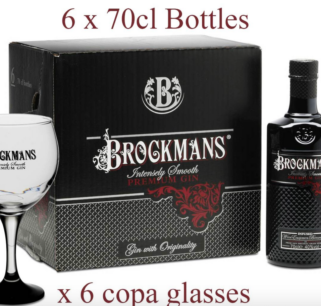 6 bottles with 6 free glasses
