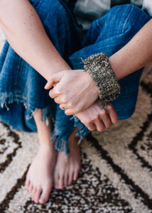Handwoven Repurposed Antique Mud Cloth Cuff