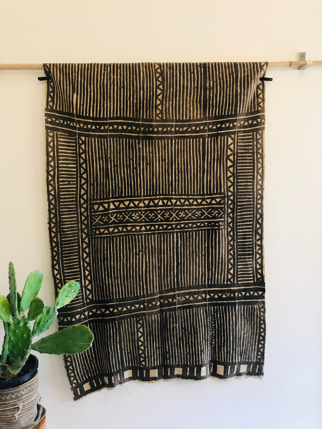 """Bold Stripes"" Vintage Bamana Mud Cloth"