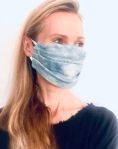 Pale Blue Indigo Face Mask