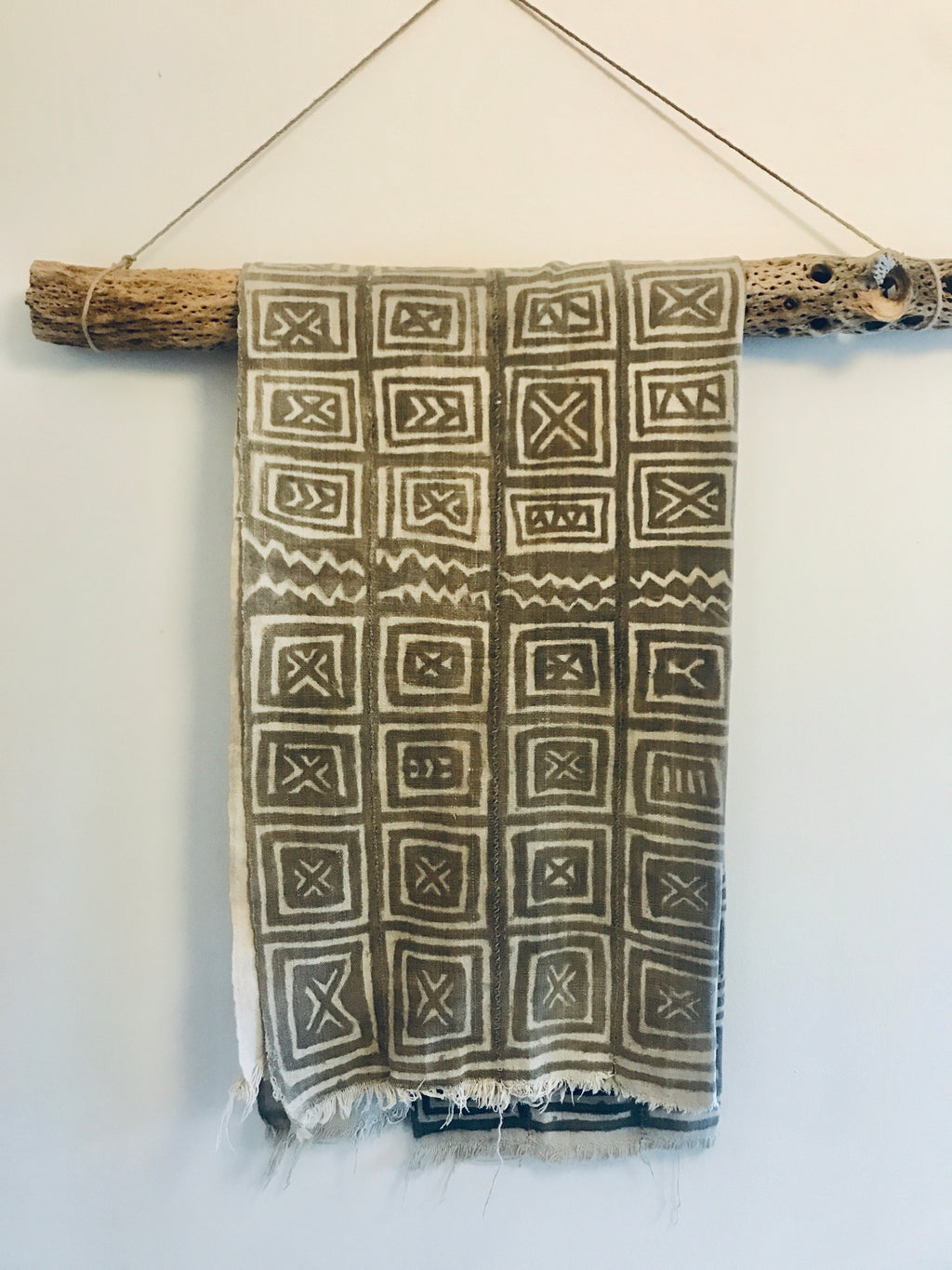 Antique Bamana Mud Cloth with Unique Patterns
