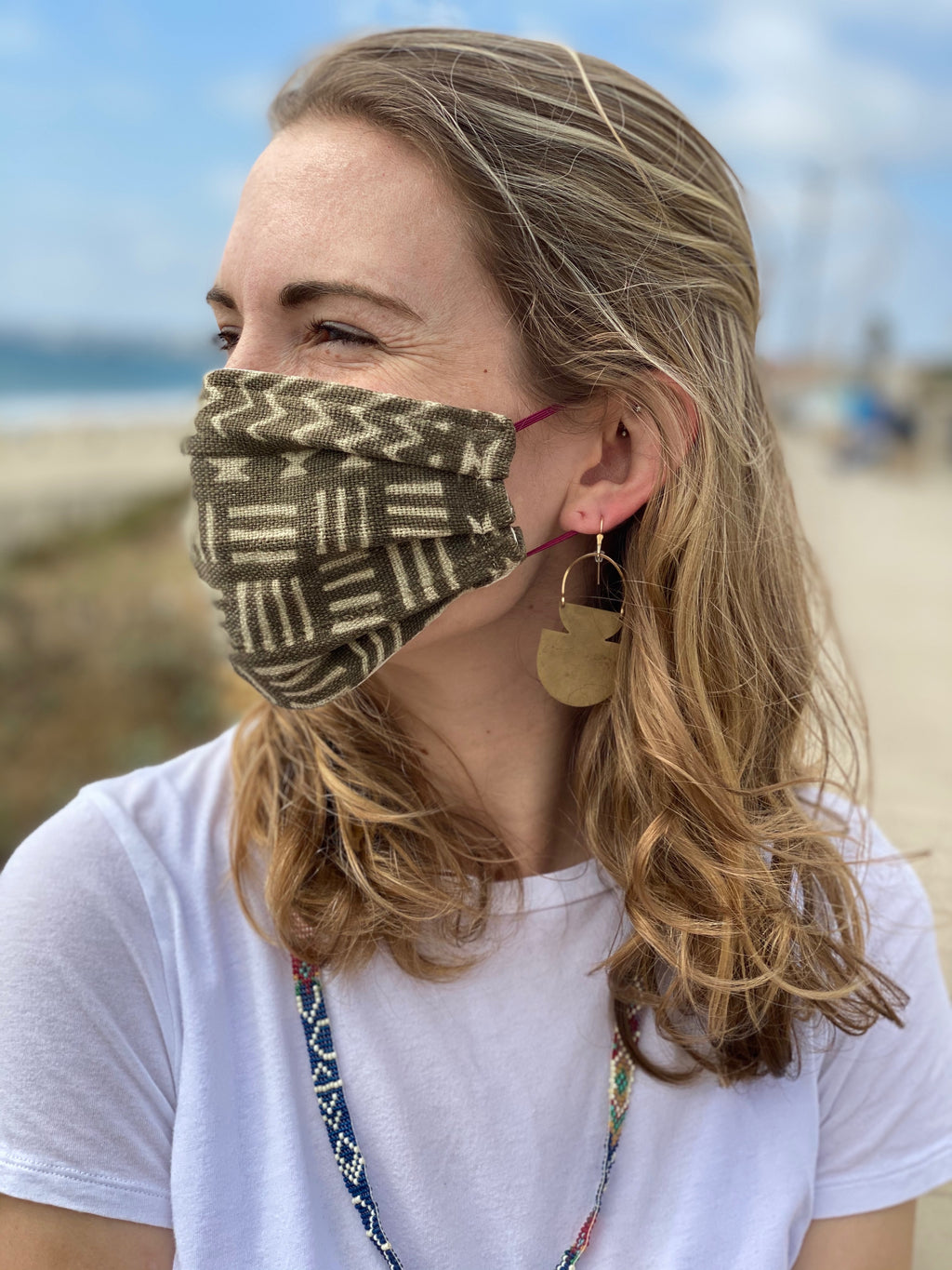 Medium Brown Bamana Mud Cloth Face Mask