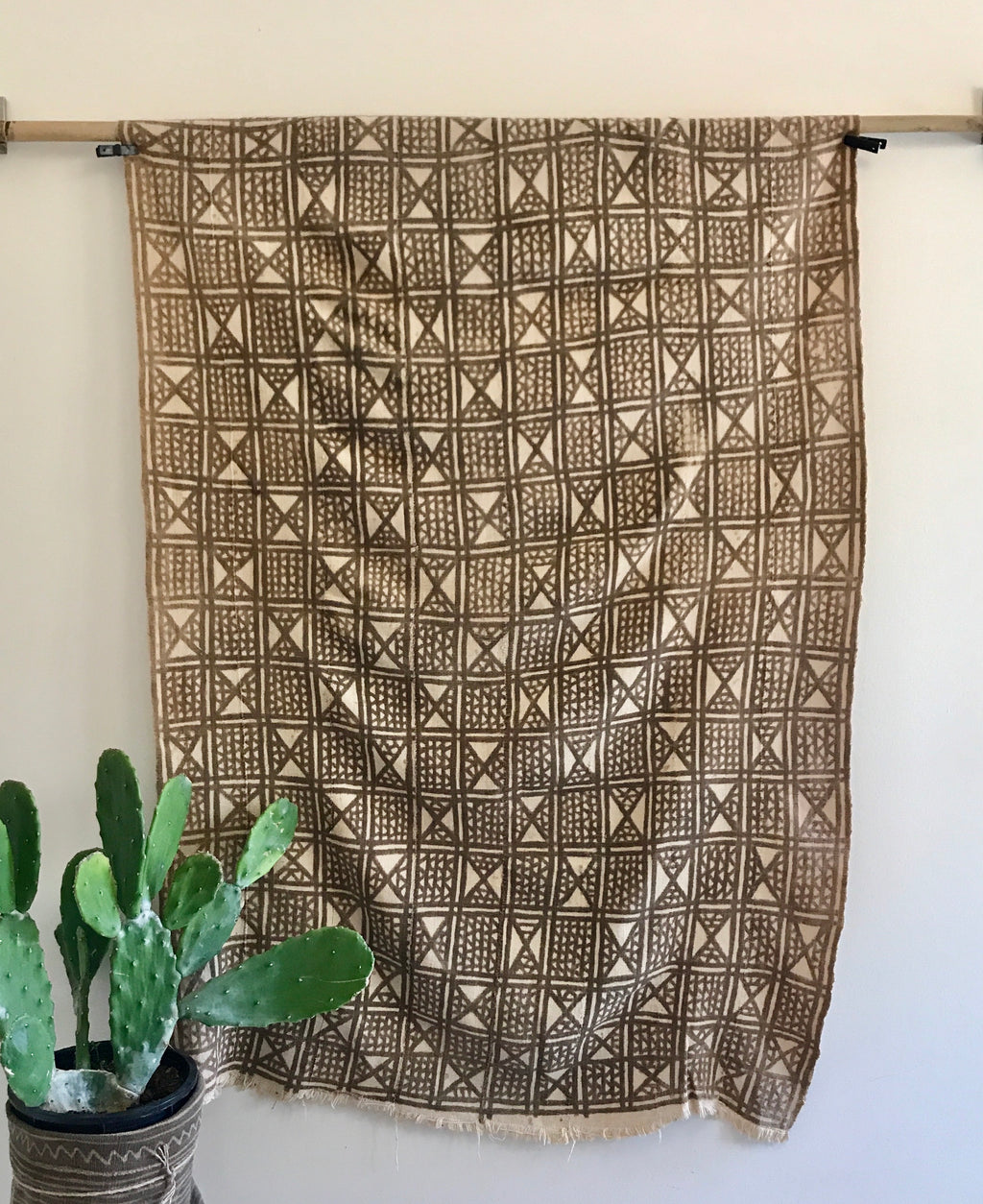 """Triangles"" Antique Bamana Mud Cloth"