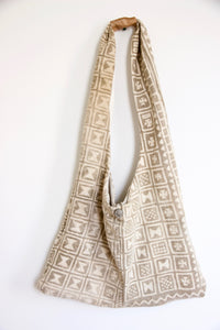 'Delicate Pattern' Antique Bamana Mud Cloth Bag