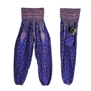 Multicolor Men Women Thai Harem Trousers Festival Hippy Yoga Pants