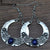 Brinco Carved Vintage Tibetan Silver Bohemian Long Earrings