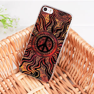 Hippie Psychedelic Art Peace Coque Shell Phone Case Cover iPhone