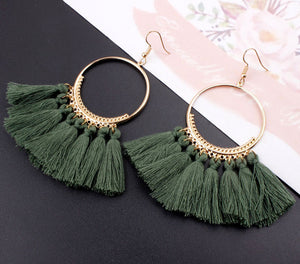 Earrings for Women Vintage Round Long Drop