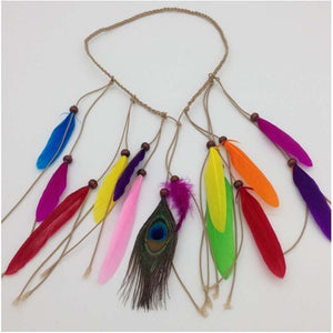 Women Feather headwear Hair Accessories Peacock Feather