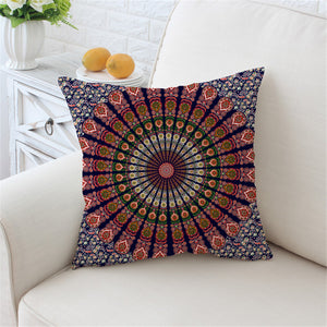 Boho Printed Decorative Pillow Cover 45x45cm