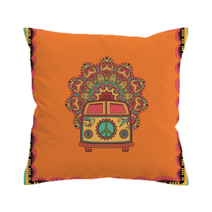 Pillowcase Peace Design Throw Cover Boho Mini Van Decorative Pillow Cover