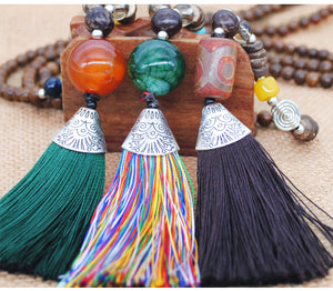 Bohemian Handmade Nepal Beads Tassel Women Necklace