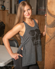 Face of Dark Nola Women's Side Lace Burnout Tank