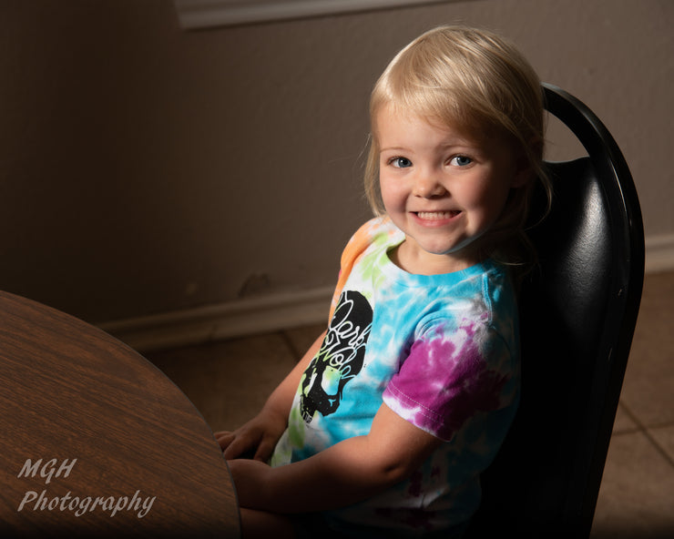 Dark Nola Tie-Dyed Toddler Tee