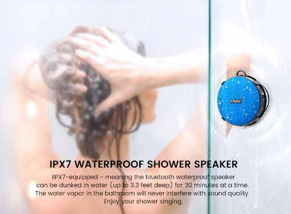 IPX7 shower speaker