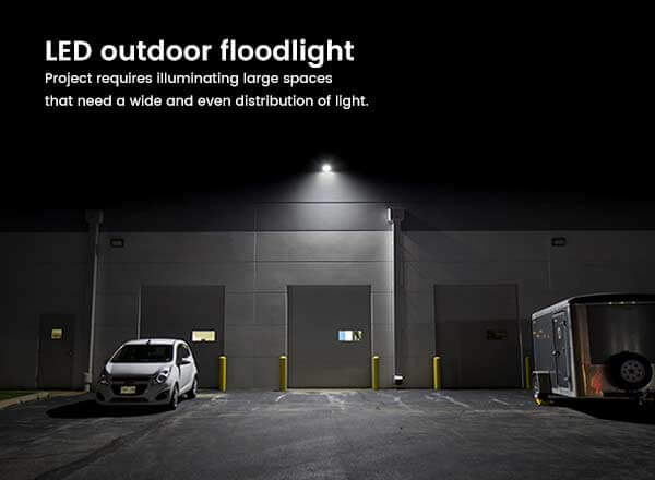 What Difference Between Outdoor LED Flood Light and LED Spotlight?