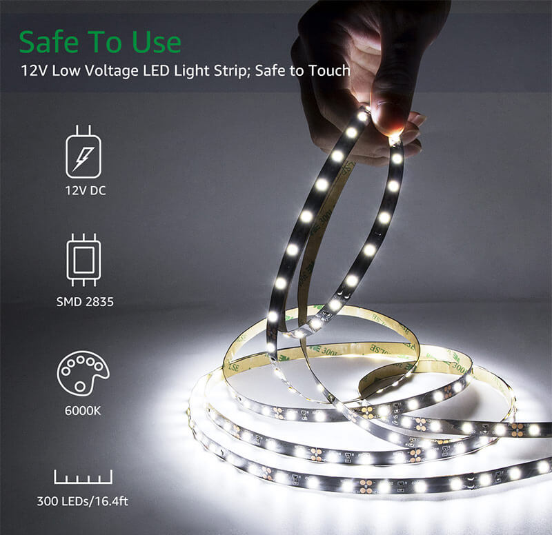 LED Strip Lights Kit Dimmable 5m