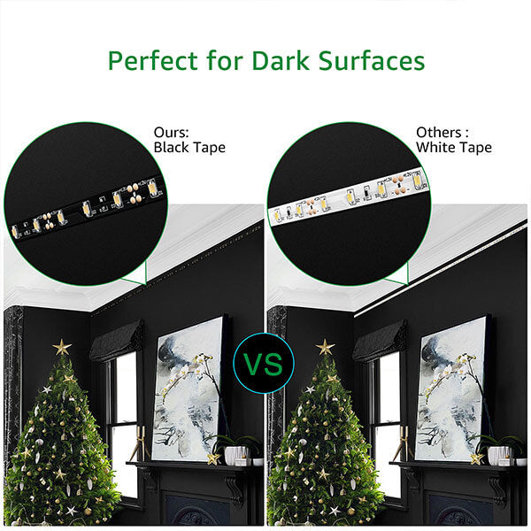 33ft Dimmable LED Strip Lights Kit, 10M 600 Units 2835 LEDs, 12V 6000K Daylight White Non-Waterproof Tape Lighting for Home, Kitchen, Cabinet, Bar, Party Decor(UK Plug)