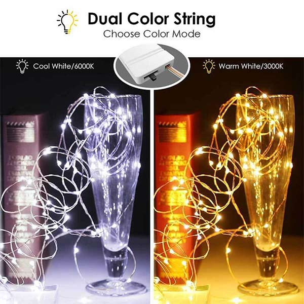 Our Dual Color Led String Lights Allow You to Have the Best of Both Worlds.