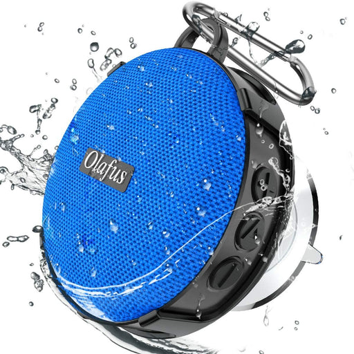Shower Speaker, Portable Wireless Bathroom Speakers with Detachable Suction Cup, HD Sound, 10H Playtime, Bluetooth5.0, IP65 Waterproof