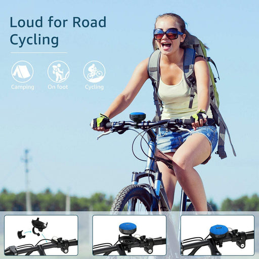 Bike Speaker with Detachable Bicycle Mount, IP65 Waterproof, Shockproof Dustproof for Outdoor Riding, Bluetooth 5.0 HD Sound, 10H Playtime, IP65 Waterproof