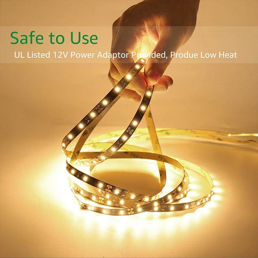 Dimmable LED Strip Lights 10m Kit 2835 3000K Warm White LED Ribbon, Non-Waterproof LED Tape Light for Kitchen Bedroom