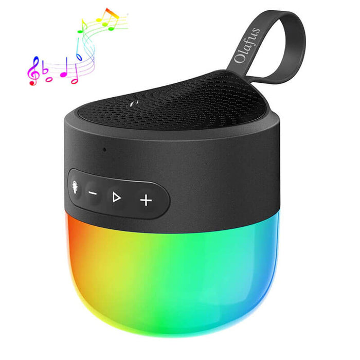 Portable Bluetooth 5.0 Wireless Speaker with Dimmable LED Light Color Changing with Music IP65 Waterproof