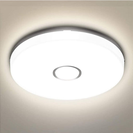 18W LED Ceiling Light, 1600LM Round Light IP54 Waterproof, PC material made lampshade, 4000K Daylight Natural White
