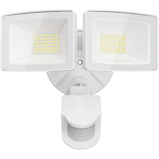 50W LED Security Lights, 5500LM Outdoor Motion Sensor Flood Light with 2 Adjustable Heads