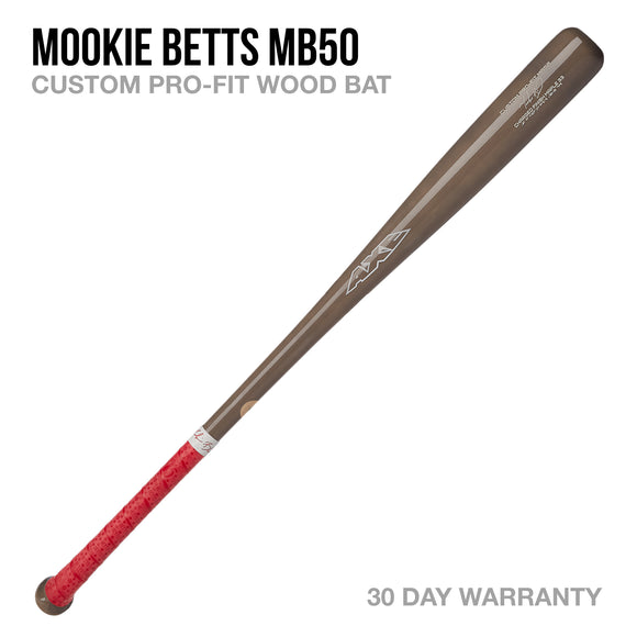 Mookie Betts MB50 Custom Pro-Fit Wood Bat