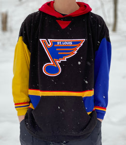 Vintage Custom St. Louis Blues Sweatshirt Jersey 2XL/3XL