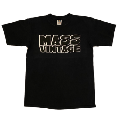 Mass Vintage Block Spell Out Shirt Black M