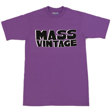 Load image into Gallery viewer, Mass Vintage Block Spell Out Shirt Purple M