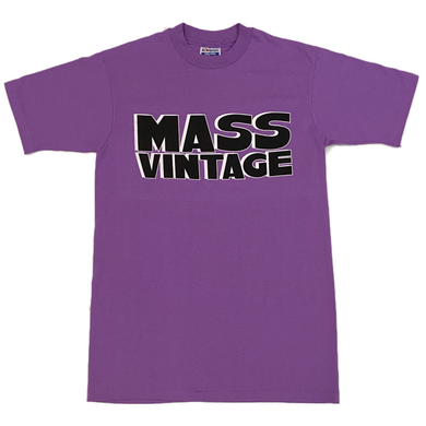Mass Vintage Block Spell Out Shirt Purple M