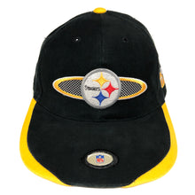 Load image into Gallery viewer, Vintage Pittsburgh Steelers SS Strapback Hat
