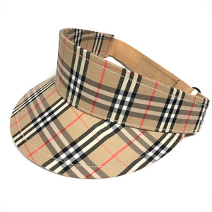 Vintage Bootleg Burberry Plaid Visor Hat