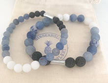 Load image into Gallery viewer, Blue Aventurine & White Jade ~Men's Collection