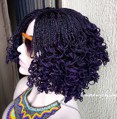 Talia Braided wig (dark purple) - Braided Wigs by Jay