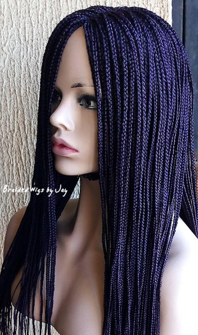 Nara Braids Wig (dark purple) - Braided Wigs by Jay