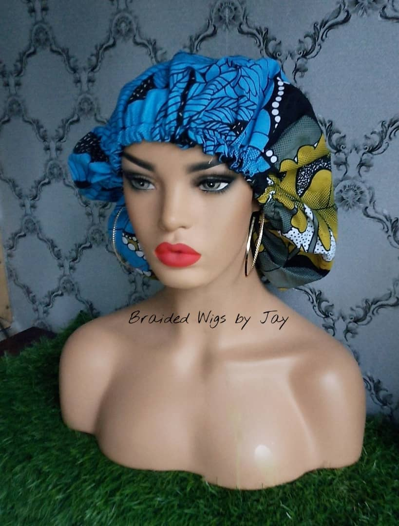 Jay5 African Print Satin Bonnet - Braided Wigs by Jay