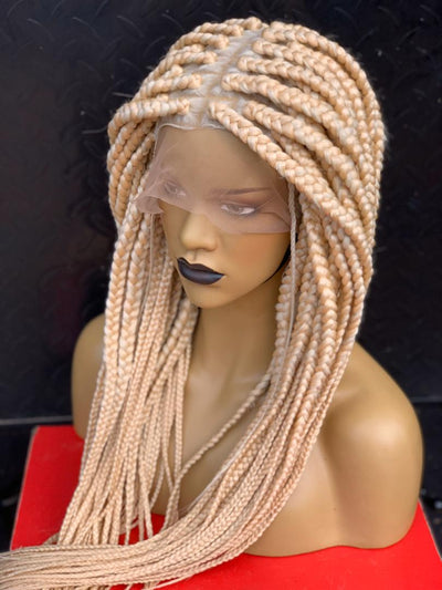 Platinum Box Braids Wig( with matching lace colour)