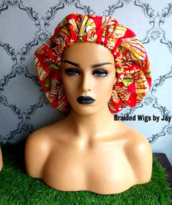 Jay2 African Print Satin Bonnet - Braided Wigs by Jay