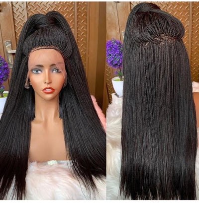 Allure  Braided  Wig (full lace wig,) Tiny twist