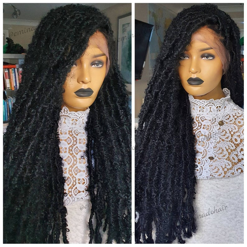 Distressed Faux locs - BraidedWigsbyJay