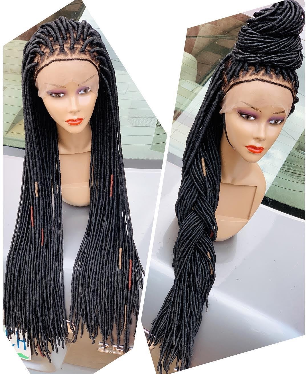 Debby Faux Wool Locs. (Made with Wool) - BraidedWigsbyJay