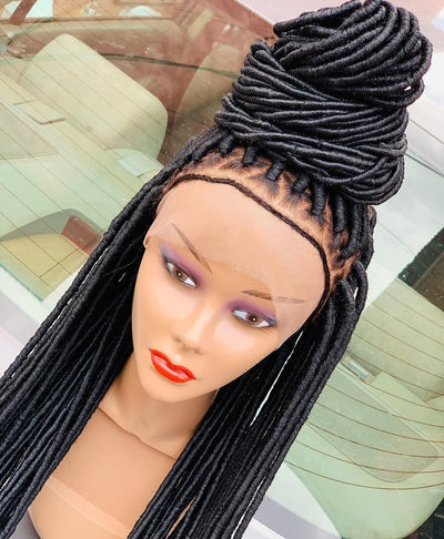 Debby Faux Wool Locs. (Made with Wool) - Braided Wigs by Jay